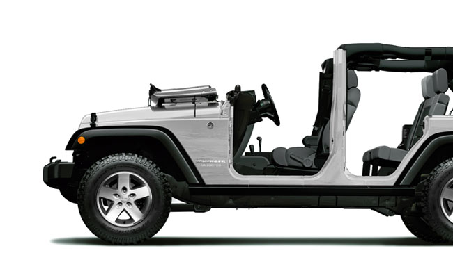 wrangler rubicon side profile doors off