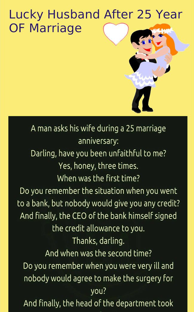 Unfaithful wife after 25 year of marriage