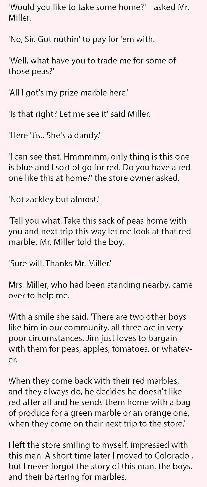 Store Owner Trades A Hungry Little Boy.