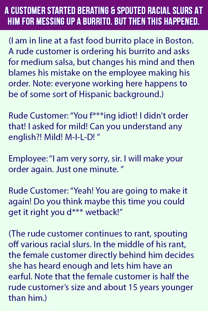A Customer Started A Furious Quarrel For The Burrito And Got This Reply From The Worker