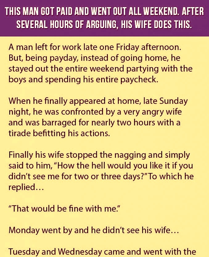A Man Is On The Vacation After He Got His Salary But His Wife Knew This And This Happen.