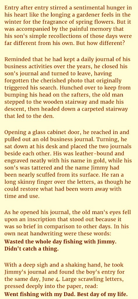A dad is in tears after he read an article of his kid from the old journal that is truly heartbreaking.