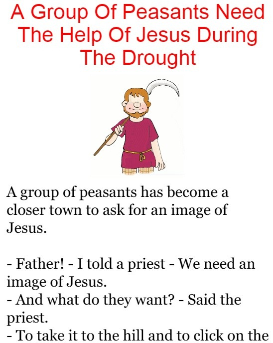 A Group Of Peasants Need The Help Of Jesus During The Drought