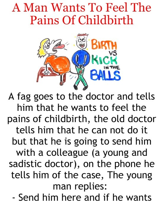 A Man Wants To Feel The Pains Of Childbirth