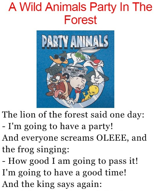 A Wild Animals Party In The Forest