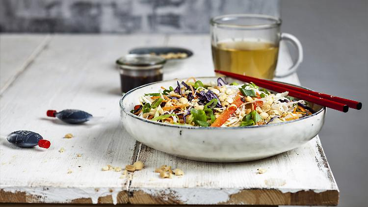 Asian glass noodle salad with a lot of love and fine taste