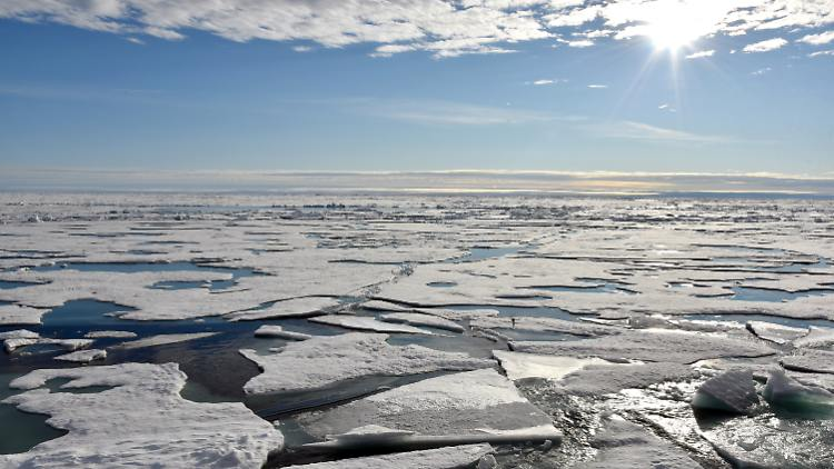 Less and less ice reaches the Arctic